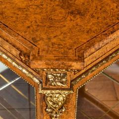 A mid Victorian burr walnut display cabinet - 1718946