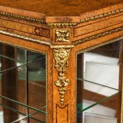 A mid Victorian burr walnut display cabinet - 1718949