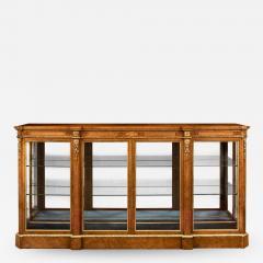 A mid Victorian burr walnut display cabinet - 1719553