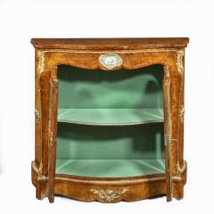 A mid Victorian kingwood serpentine cabinet - 2023672