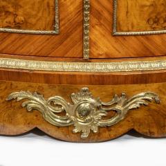 A mid Victorian kingwood serpentine cabinet - 2023677