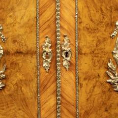 A mid Victorian kingwood serpentine cabinet - 2023682