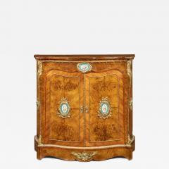 A mid Victorian kingwood serpentine cabinet - 2023786