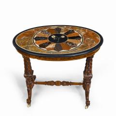 A mid Victorian walnut and pietra dura table - 1847693