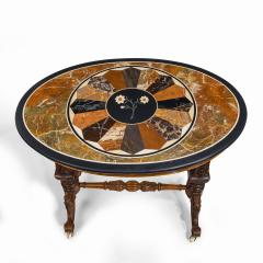 A mid Victorian walnut and pietra dura table - 1847694