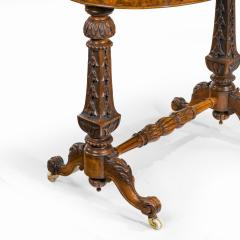 A mid Victorian walnut and pietra dura table - 1847697
