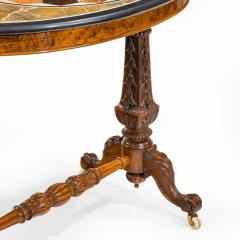 A mid Victorian walnut and pietra dura table - 1847698