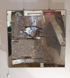 A mirror and aluminum wall sculpture Italy 70 - 1044934