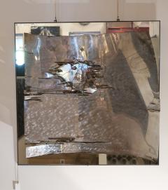 A mirror and aluminum wall sculpture Italy 70 - 1044936