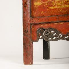 A pair of 19th century Chinese wardrobe chinoiserie lacquered red - 2007604