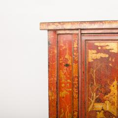 A pair of 19th century Chinese wardrobe chinoiserie lacquered red - 2007613