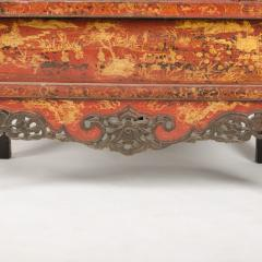 A pair of 19th century Chinese wardrobe chinoiserie lacquered red - 2007617