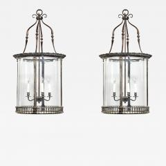 A pair of 20th century brass hanging lanterns in the style of Lutyens - 1486659