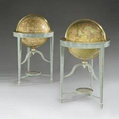 A pair of 21 contemporary library floor standing globes - 746340