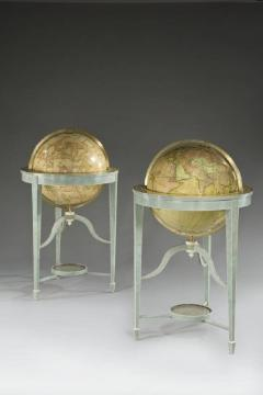 A pair of 21 contemporary library floor standing globes - 746341
