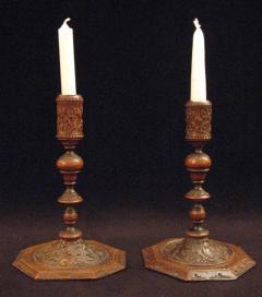 A pair of Bois de Saint Lucie Candlesticks - 920685
