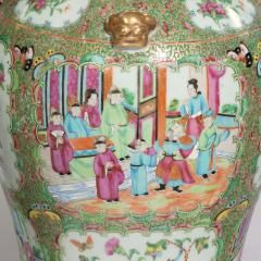 A pair of Chinese Canton Rose Medallion Vases and Covers - 1412040
