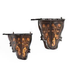 A pair of Dutch marquetry wall brackets - 1413800