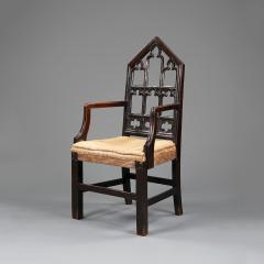 A pair of Gothic hall chairs - 923015