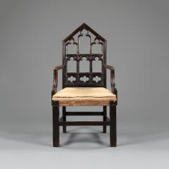 A pair of Gothic hall chairs - 923016