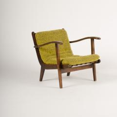 A pair of Mid Century Italian oak armchairs circa 1945 - 1660977