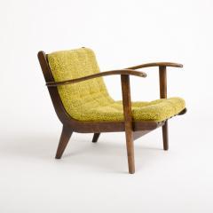 A pair of Mid Century Italian oak armchairs circa 1945 - 1660980