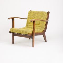 A pair of Mid Century Italian oak armchairs circa 1945 - 1660987