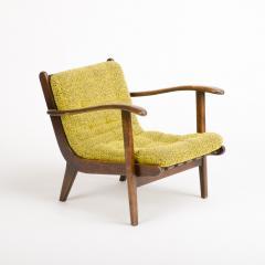 A pair of Mid Century Italian oak armchairs circa 1945 - 1661021