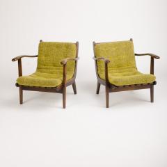A pair of Mid Century Italian oak armchairs circa 1945 - 1661022