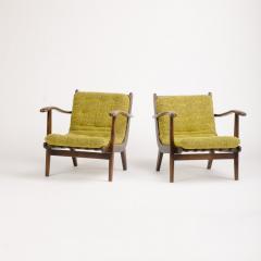 A pair of Mid Century Italian oak armchairs circa 1945 - 1661029