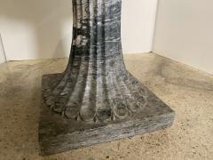 A pair of Monumental Italian Neoclassic Grand Tour Marmo Grigio Taza - 1635358