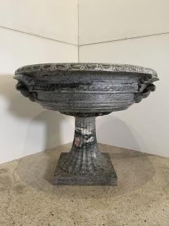 A pair of Monumental Italian Neoclassic Grand Tour Marmo Grigio Taza - 1635363