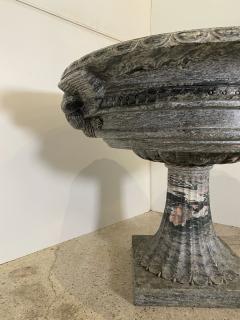 A pair of Monumental Italian Neoclassic Grand Tour Marmo Grigio Taza - 1635364