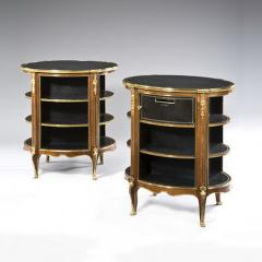 A pair of Napoleon III kingwood freestanding open bookcases - 1578091