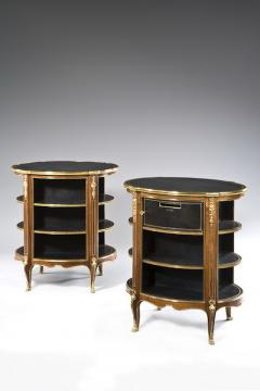A pair of Napoleon III kingwood freestanding open bookcases - 1578092