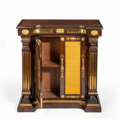 A pair of Regency brass inlaid rosewood side cabinets - 1849543