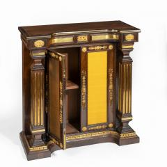 A pair of Regency brass inlaid rosewood side cabinets - 1849544