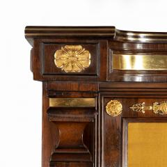 A pair of Regency brass inlaid rosewood side cabinets - 1849546