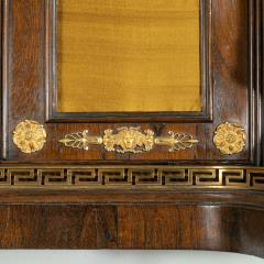 A pair of Regency brass inlaid rosewood side cabinets - 1849548