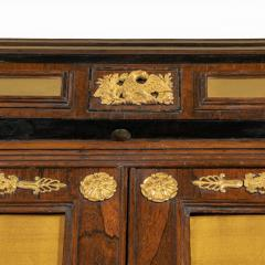 A pair of Regency brass inlaid rosewood side cabinets - 1849549