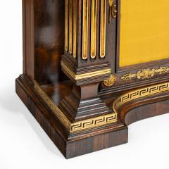 A pair of Regency brass inlaid rosewood side cabinets - 1849550