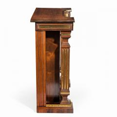 A pair of Regency brass inlaid rosewood side cabinets - 1849553