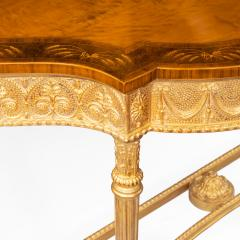 A pair of Victorian Hepplewhite style satinwood console tables - 1514380