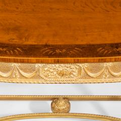 A pair of Victorian Hepplewhite style satinwood console tables - 1514381