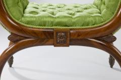 A pair of antique Regency cross over stools - 804637
