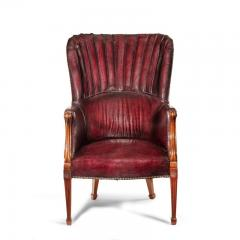 A pair of barrel backed Mahogany wing arm chairs - 1219281