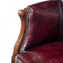 A pair of barrel backed Mahogany wing arm chairs - 1219283