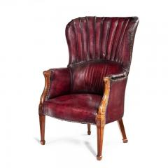 A pair of barrel backed Mahogany wing arm chairs - 1219284