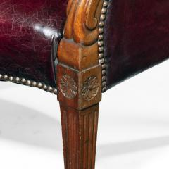 A pair of barrel backed Mahogany wing arm chairs - 1219286