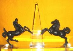 A pair of bronze rearing horses - 808089